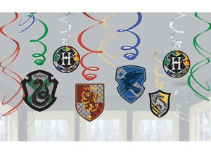 Harry Potter Hanging Swirl Decorations Kids Birthday Party Supplies ~ Wizards 12