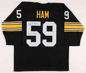 Jack Ham Signed Pittsburgh Steelers Jersey Inscribed 4xSB Champs (TSE Hologram)