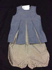 BNWT BLUE & Pinstripe 2 Piece Outfit 9-12 Months NEXT