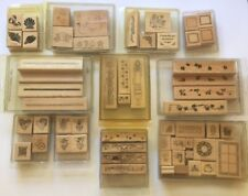 Lot Of 56 STAMPIN' UP Wood Stamps From 1996/1998 Discontinued (10 Sets)