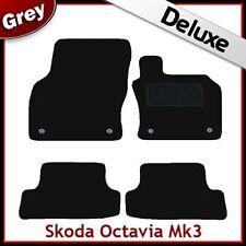 Skoda Octavia Mk3 2012 onwards Tailored LUXURY 1300g Carpet Car Floor Mats GREY