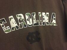 VINTAGE UNC NORTH CAROLINA TAR HEELS T SHIRT CAMO/BROWN  Sz XL NCAA