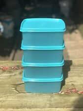 Tupperware Freezer Square set of 4 containers of  400 ml BLUE New