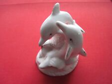 "Marine Life Dolphins Statue Figurine Decor From Martha'S Vineyard #1653 4"" High"