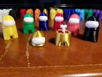 """2-pack of Special Edition GOLD 2"""" Painted Among Us Game Figure  Free Shipping!"""