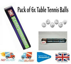 Pack of 6X Balls Standard Full Size Table Tennis M.Y Table Tennis Balls