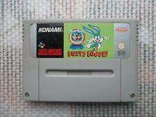 Jeu Super Nintendo / Snes Game Tiny Toons Buster Busts Loose PAL fah authentic *