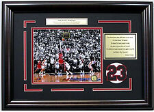 Michael Jordan 1998 NBA Finals Winning Shot 8x10 Framed Photo Collage Nameplate