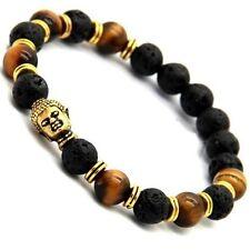 Real Tiger Eye real Lava Buddha Energy Yoga Lucky Bracelet  fits all Men women