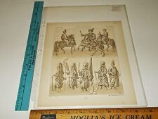 Rare Antique c1880 Poland Polen Pologne GU Imp Firmin Didot Paris Litho Print