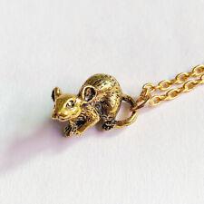 3D Realistic Mouse Necklace - Mice Rodent Dormouse Pet Charm Pendant Gift