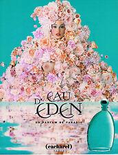 PUBLICITE ADVERTISING 035  1996  CACHAREL parfum EAU D'EDEN  pour femme
