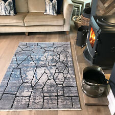 Quality Large Grey Rug Soft Moroccan Living Room Rugs Affordable Bedroom Mats UK