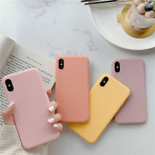 Solid Color Candy For iPhone XS MAX XR X 7 8 6s Plus Phone Cover Case Silicone