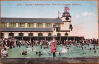 Coronado, San Diego, CA 1910 Postcard: Children's Swimming Tank, Tent City