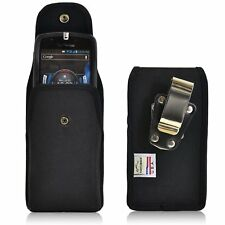Heavy Duty Rugged Nylon Canvas Metal Clip Case fit LG V20 with Otterbox Case on