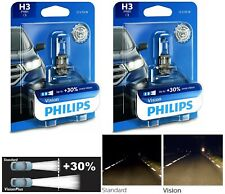 Philips VIsion 30% H3 55W Fog Light Two Bulbs Replacement Halogen DOT Legal OE
