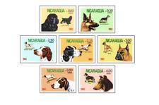 NIC8204 Dogs 7 stamps MNH NICARAGUA