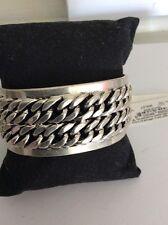 $45 Lucky Brand Silver  Chain Bracelet Item #144A