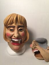 Vintage Bill Hillary Clinton Masks First Lady Hair Movable Jaws Latex Rubber