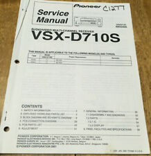 PIONEER VSX-D710S AUDIO/VIDEO RECEIVER ORIGINAL SERVICE REPAIR MANUAL