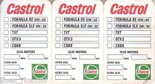 Adesivo Cambio Olio 3 pz. Castrol (*)