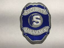Security Management Badge S Blue Silver White Embroidered Police Sew Patch E