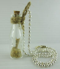 "Glass Message in a Bottle ""Pray and Believe"" Pendant Necklace NEW In Gift Box"
