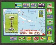 JAMAICA 2007 ICC CRICKET WORLD CUP FLAGS Souvenir Sheet MNH