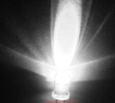 New 100 pcs 5mm White LED Ultra Bright Free Resistor