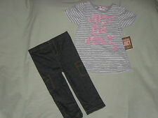 NEW JUICY COUTURE BABY 18-24 MONTHS OUTFIT PINK GRAY LOGOS JEGGINGS SO CUTE!