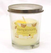 VANIGLIA Cupcake Candela fragranced - in vetro titolare, unico Stoppino PROFUMATA GLITTER