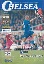 1995/96 CHELSEA V WIMBLEDON 26-12-1995 Premiership (Very Good)