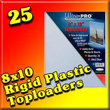 25 ULTRA PRO 8x10 RIGID TOPLOADERS MEMORABILIA PHOTO COLLECTIBLE PLAQUE 81146-25