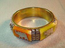 In India Bone Brass Vintage Elephant Jewelry Bangle Bracelet Hand Made