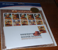 COWBOYS OF THE SILVER SCREEN STAMPS & FIRST DAY COVERS