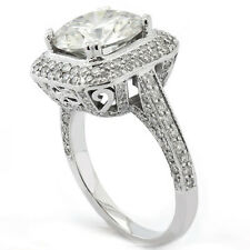 3.94CTW ROUND CUT MICRO PAVE ANTIQUE STYLE DIAMOND ENGAGEMENT RING R176