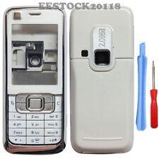 Silver White Fascia Full Housing Case Cover Nokia 6120 6121 Classic 6120C +TL
