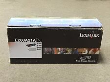 Lexmark E260A21A Black Toner Cartridge E260 E360 E460 Genuine New Open Box