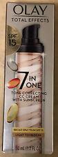 Olay 7 in One Tone Correcting CC Cream w/ SPF 15 Light to Medium 1.7 oz EXP09/21