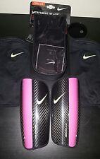 Nike Mercurial Blade Hinge Carbon Fiber Shinguards Black/Pink Adult Soccer SZ S
