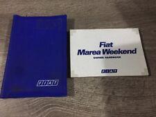 #5 GENUINE FIAT MAREA WEEKEND OWNERS MANUAL HANDBOOK FOLDER BOOK PACK 1996-2002