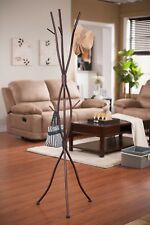 Contemporary Brown Metal Tree Branches Coat & Hat Rack Stand ~New~