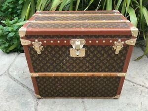 LOUIS VUITTON MALLE  Monogram Steamer Trunk chest purse bag LV wallet antique