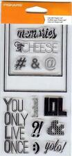 Fiskars SAY CHEESE 13 Clear Stamps 103770-1001