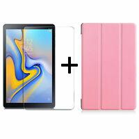 Set für Samsung Galaxy Tab A 10.5 SM-T590 T595 Schutzhülle + Schutzschutz Folie