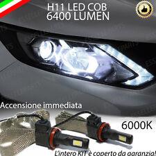 KIT FULL LED PER NISSAN QASHQAI J11 LAMPADE LED H11 6000K 100% NO ERROR 6400 LM