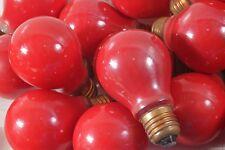Schöne alte Narva Glühbirne in Rot 25 Watt Lichterkette Partybeleuchtung