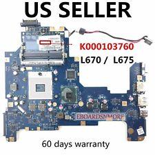 K000103760 Toshiba Satellite L670 L675 Laptop Motherboard,HM55 LA-6041P,US Loc A