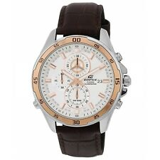 Casio Edifice EFR-547L-7AV Chronograph Silver Dial 10 ATM Quartz Men's Watch